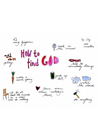 "Postkarte ""How to find God"""