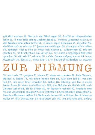 """Klappkarte """"Firmung - Glück und Segen"""""""