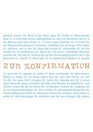 """Klappkarte """"Konfirmation - Glück und Segen"""""""