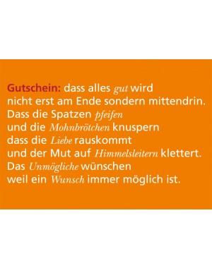 """Postkarte """"Gutschein"""""""
