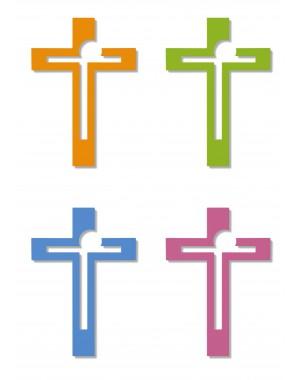 Wandkreuz farbig